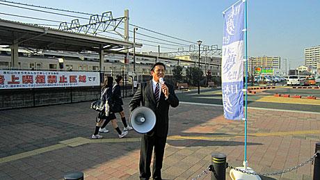 2014_02_02_東松山駅街頭