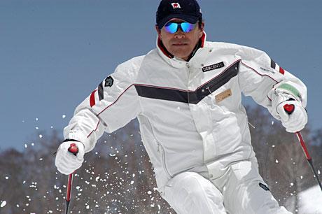 校正スキー写真